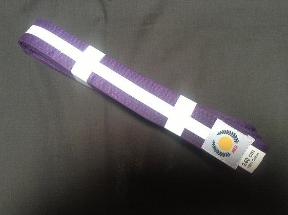 Belt: Purple/White Stripe