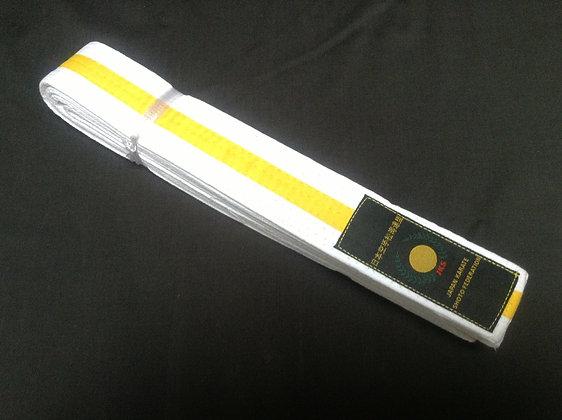 Belt: White/Yellow Stripe