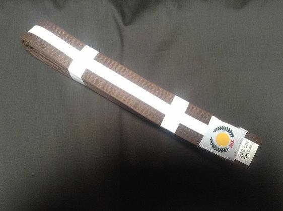 Belt: Brown/ 1 White Stripe