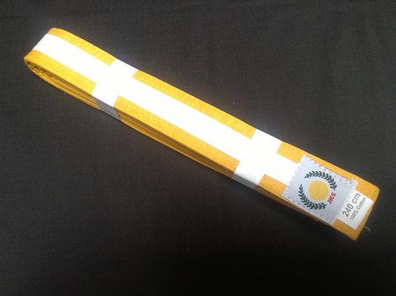 Belt: Yellow/White Stripe