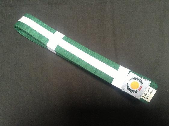 Belt: Green White Stripe