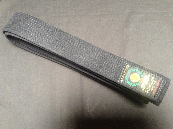 Hirota Satin Black Belts