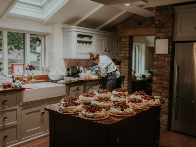 catering in the main kitchen