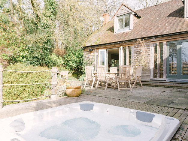 hot tub on the terrace