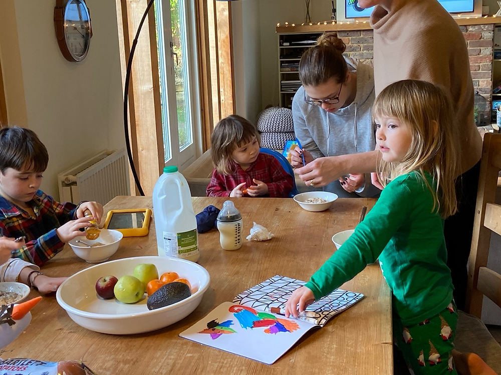 kids at a table