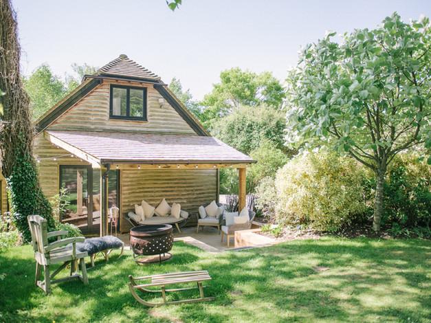 The barn and garden