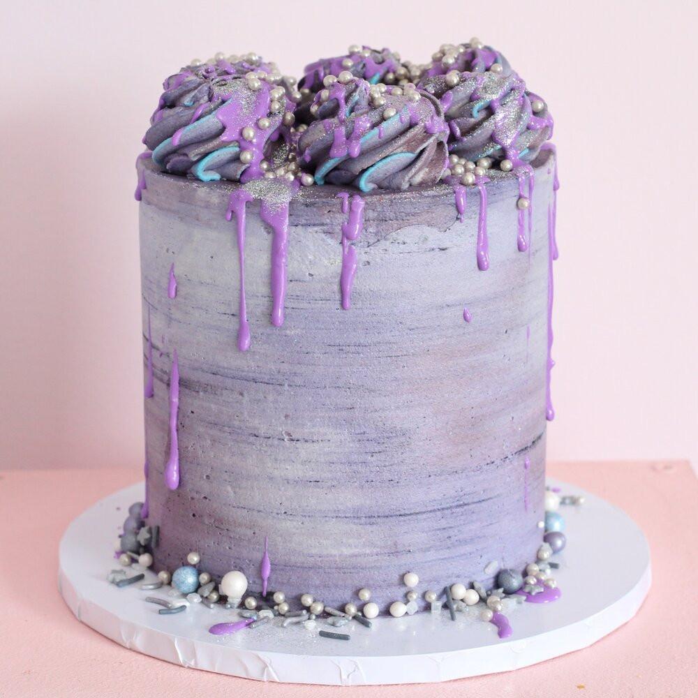 purple vegan cake