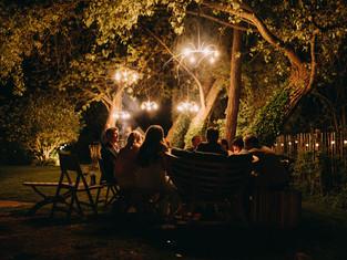 chandeliers in the night garden