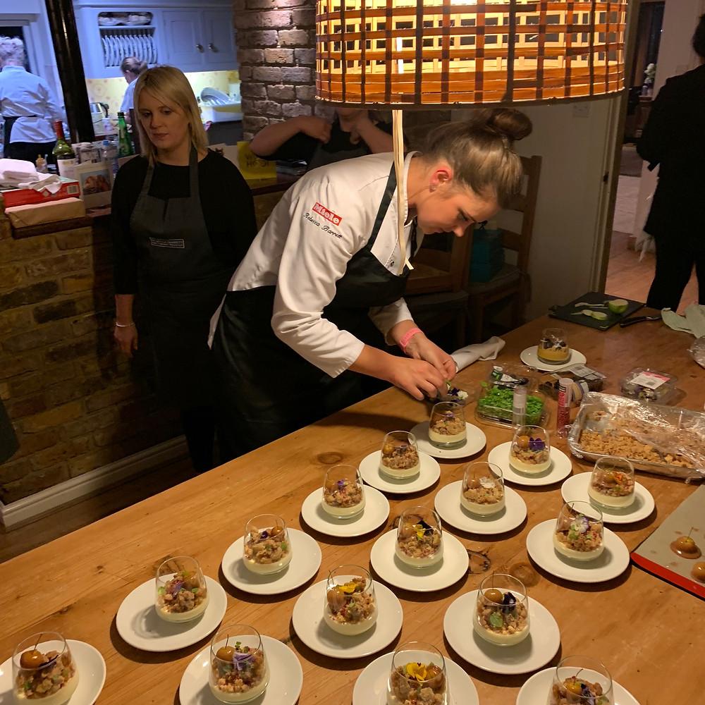 Chef is preparing desserts