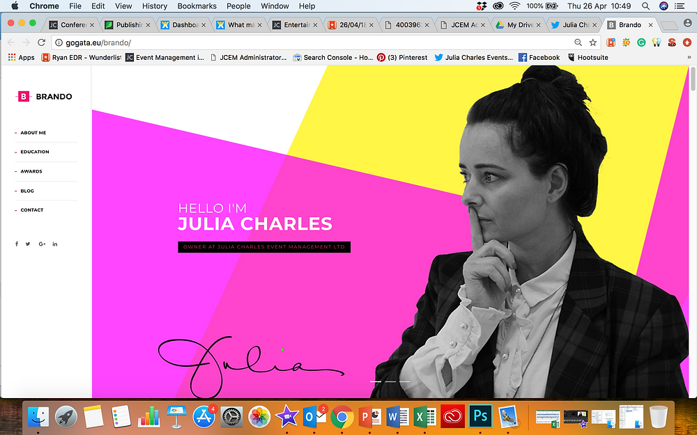 My Photoshop images being used on Julia's blog