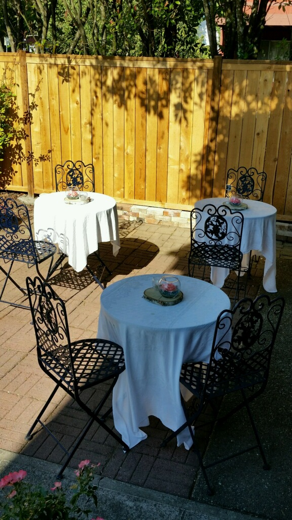Courtyard Rehearsal Dinner