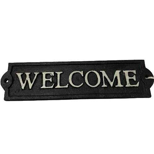 'Welcome' Cast Iron Sign