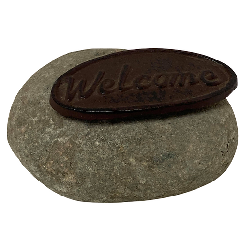 Cast Iron Welcome Stone