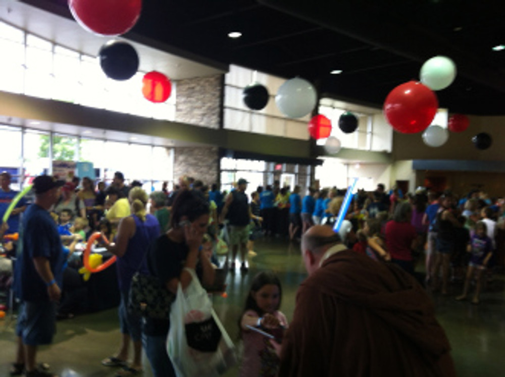 The massive crowd at Journey Church in Norman.