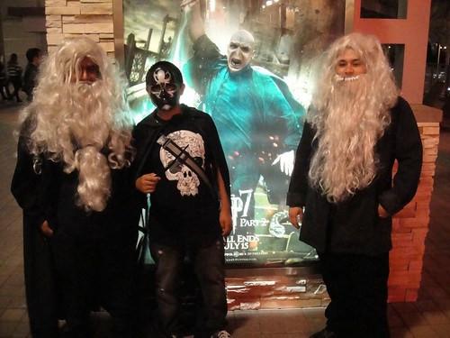 Harry Potter Midnight Premiere - costumed fans