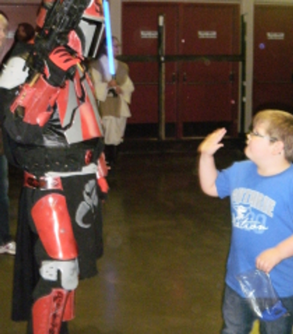 High five to the Mandalorian.  This kid thought I was real.