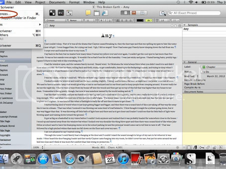 Using Scrivener to Format for Indentations and Line Spacing
