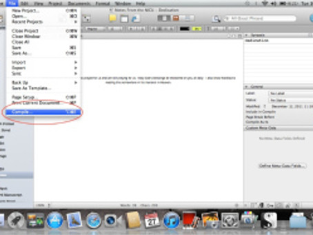 How To Use Scrivener to Format a Createspace PDF Interior for Publication