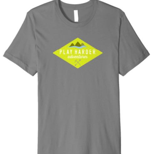 Bright Green Diamond logo tee