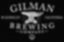 Gilman Brewing logo White on Black 2019.