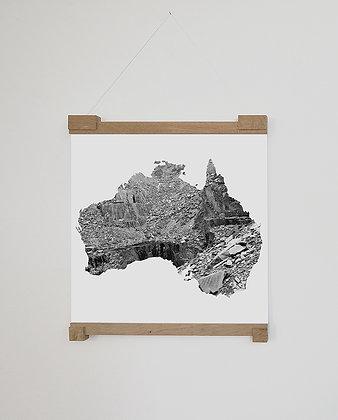 Monika Oechsler, Missing Mountain Maps I
