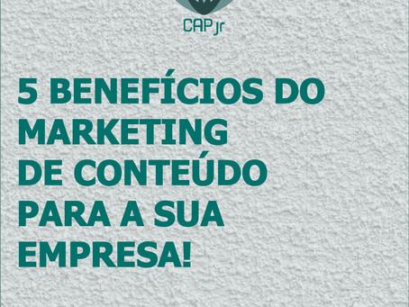 5 benefícios do Marketing de Conteúdo