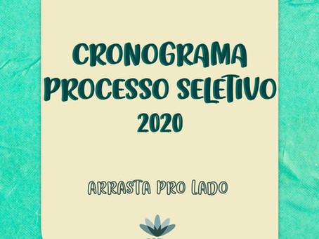 Cronograma Processo Seletivo 2020