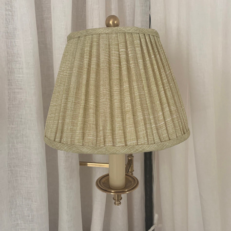 Dorchester Sconces with Fermoie Shades