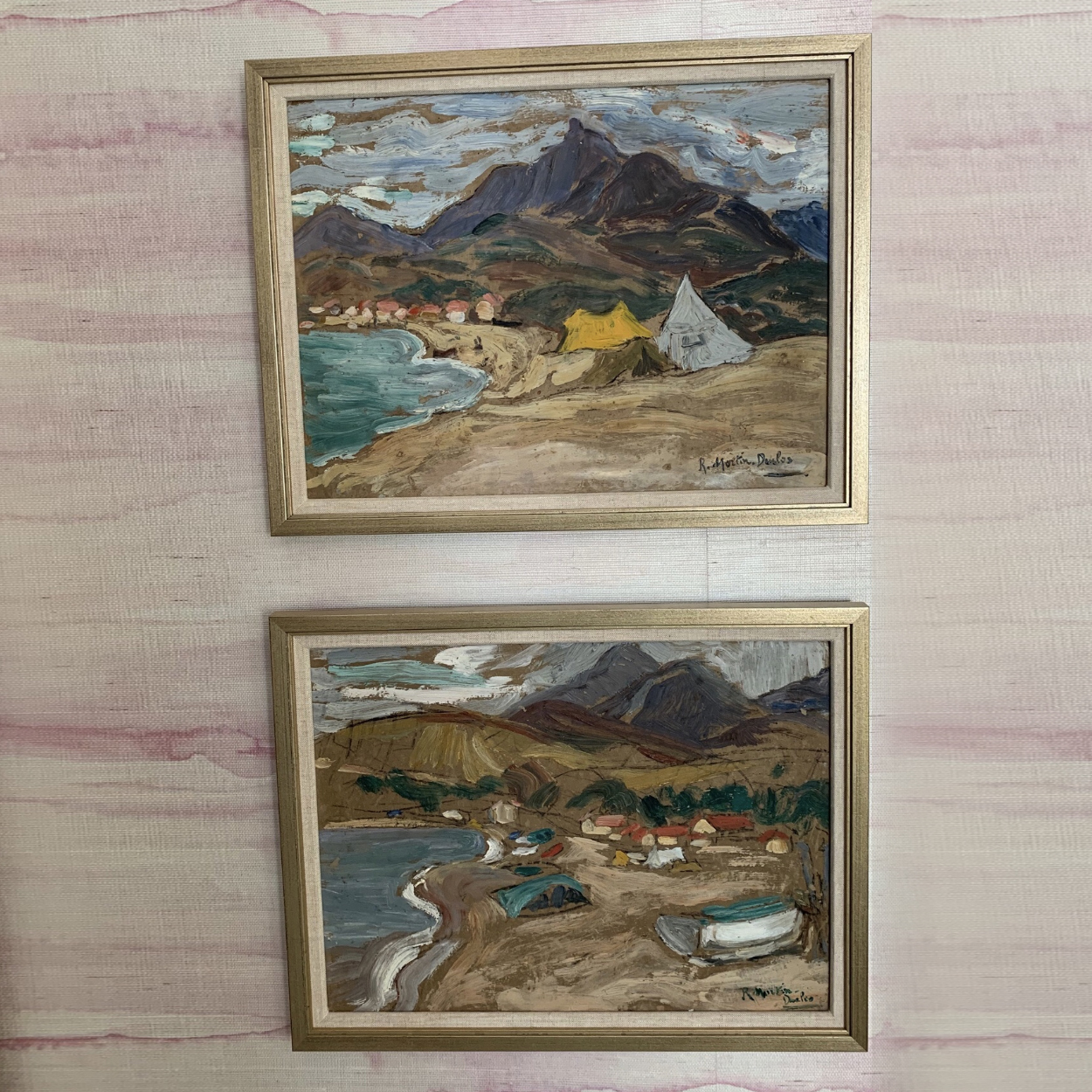 Pair of Midcentury French Landscape Oil Paintings