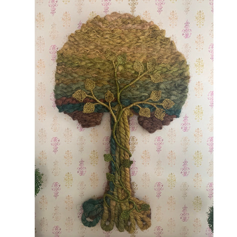 French Tree of Life Jute Wall Hanging