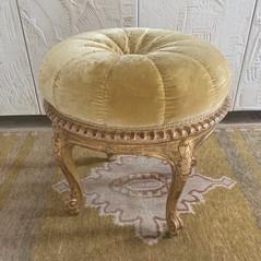 Louis XV style gilt-wood circular tabouret late 19th century