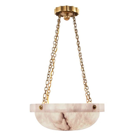 Fluted Alabaster Chandelier
