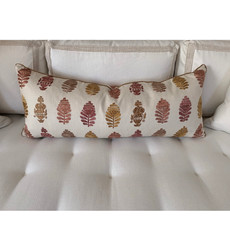 Bolster Pillow in Vaughan Embroidery