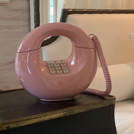 Pink Vintage Western Bell Phone