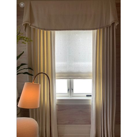 Loro Piana Linen Curtain Panels and Valences