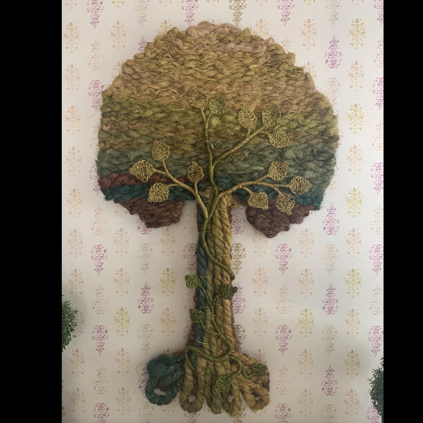 Tree of Life Jute Wall Hanging