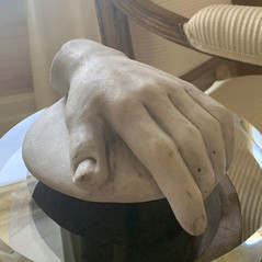 19th C. Grand Tour, White Marble Carved Roman Hand