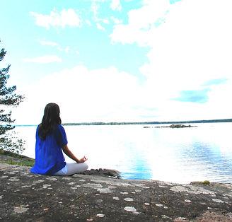 Sjö, harmoni, lycka, inre frid, meditation