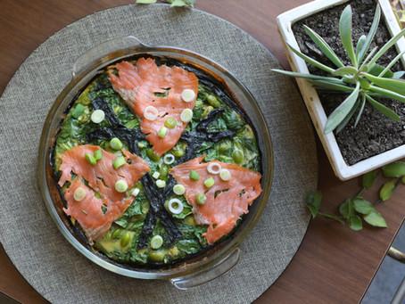 Asian Sesame Sushiche! (Sushi + Quiche) - Grain & Dairy-Free, Protein & Flavour-Full