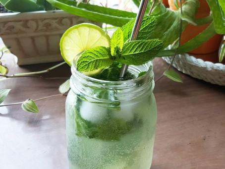 4-Ingredient Healthy, Sugar-Free, Refreshing Mojito Recipe!