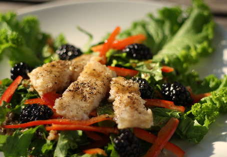 Sweet and Spicy Blackberry Salad!