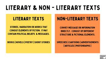 Literary & Non - Literary Texts