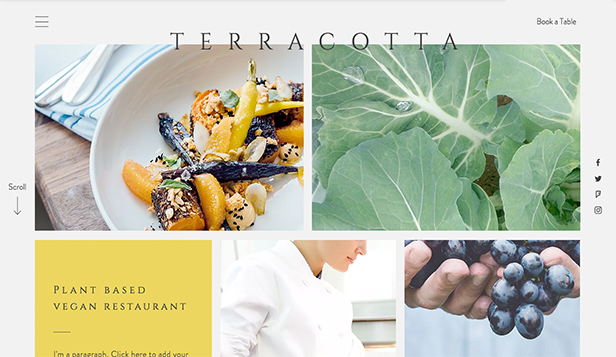 Restaurant website templates – Vegansk restaurant