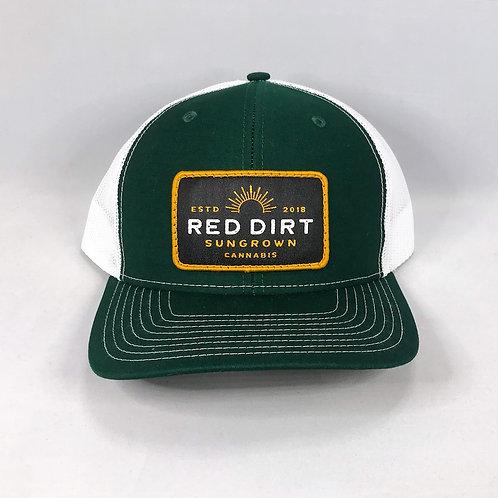 Trucker Hat - Dark Green / White