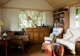 Well loved garden room hobby space