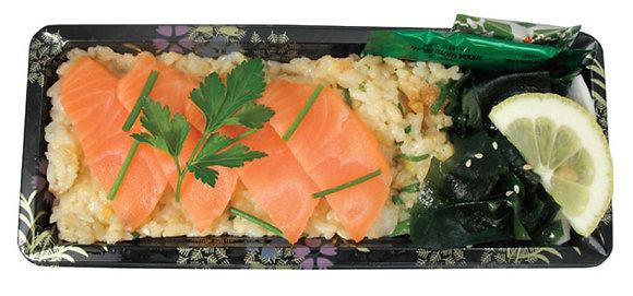 Salmon Sashimi & Tempura Rice