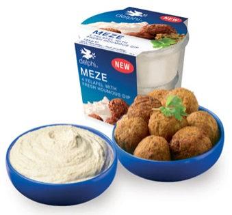 Meze (4 Felafel with Houmous Dip)