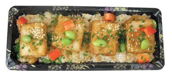 Fried Tofu & Tempura Rice