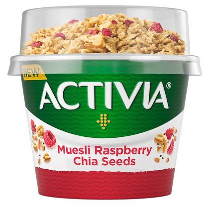 Activia Low Fat Yogurt Raspberry & Chia Muesli