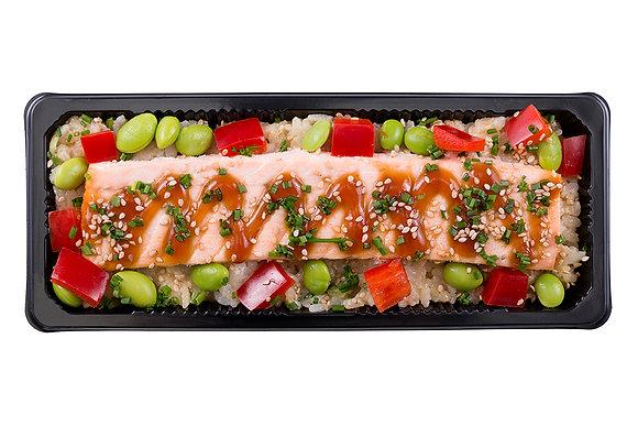 Teriyaki Salmon & Tempura Rice
